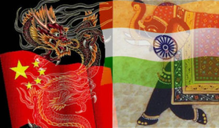 flags from India and China related to the origins of Ayurveda