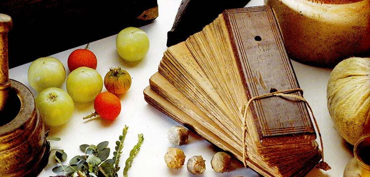 Ancestral medicine herbs and Chinese recipe book
