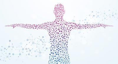 Human Microbiome, person as dots