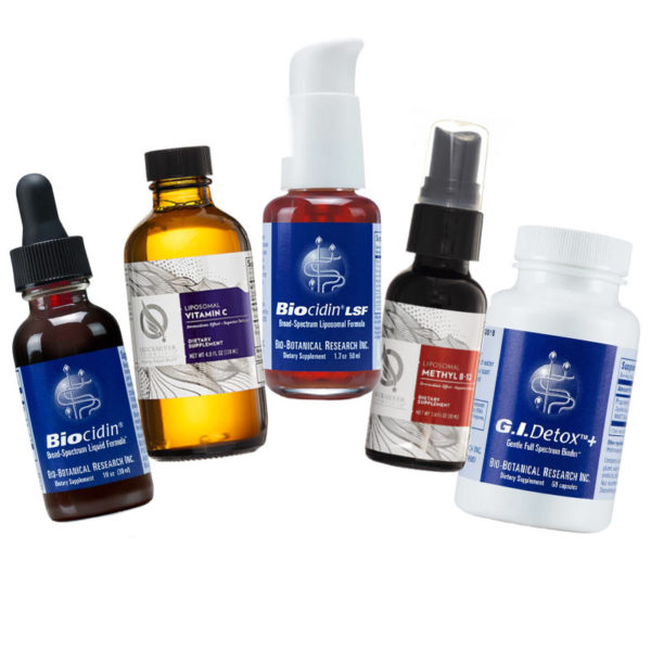 A sample of recommended products available through Fullscript Dispensary